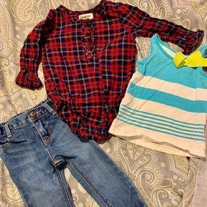 3PCS OSHKOSH B'GOSH Baby Kids Bundle Girl Clothes